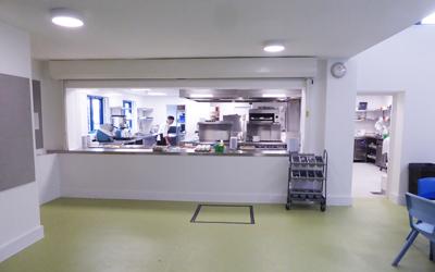 Priory school kitchen
